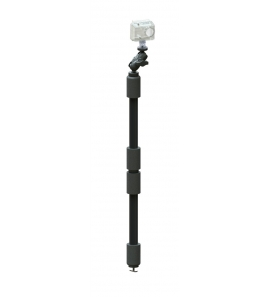 YakAttack PanFish Camera Pole, Mighty Mount / GearTrac ready, 1/4-20 tripod thread