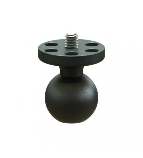 "1"" camera ball, 1/4-20 tripod threads"