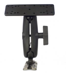 """Univerzális halradar monitor tartó 15,5x5cm-es lappal, 1,5"""" Screwball-al szerelve, MightyMount, GearTrac bázishoz"""