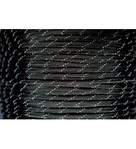USA Paracord 550 kötél fényvisszaverő csíkkal Fekete