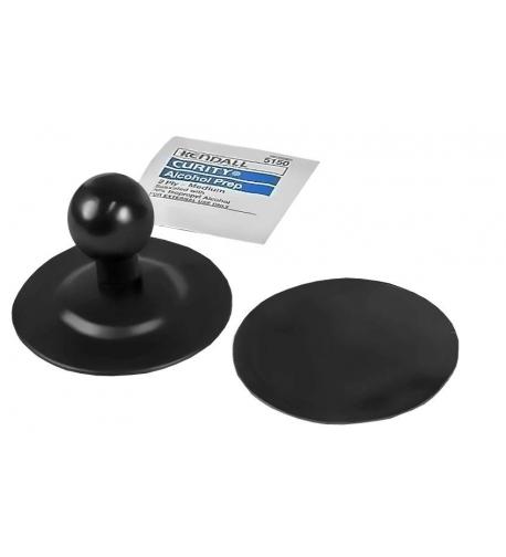 """RAM FLEX 1"""" Ball bázis 2.5"""" átmérőjű kör alakú flexibilis öntapadós alappal"""