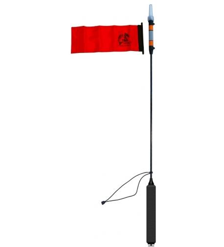 VISIpole II, éjszakai fény és láthatósági zászló, Mighty Mount / GearTrac bázishoz