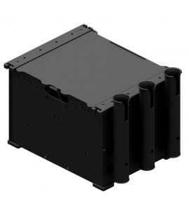 BlackPak szerelékes doboz 3db bottartócsővel