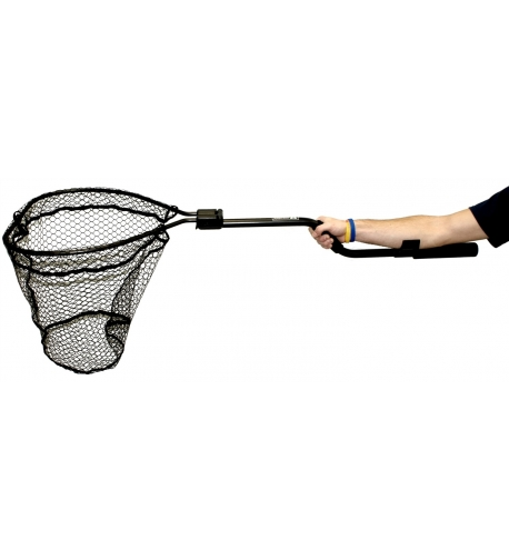 "Leverage Landing Net, 12"" X 20"" hoop, 47"" long, with extension and foam for storing in rod holder"