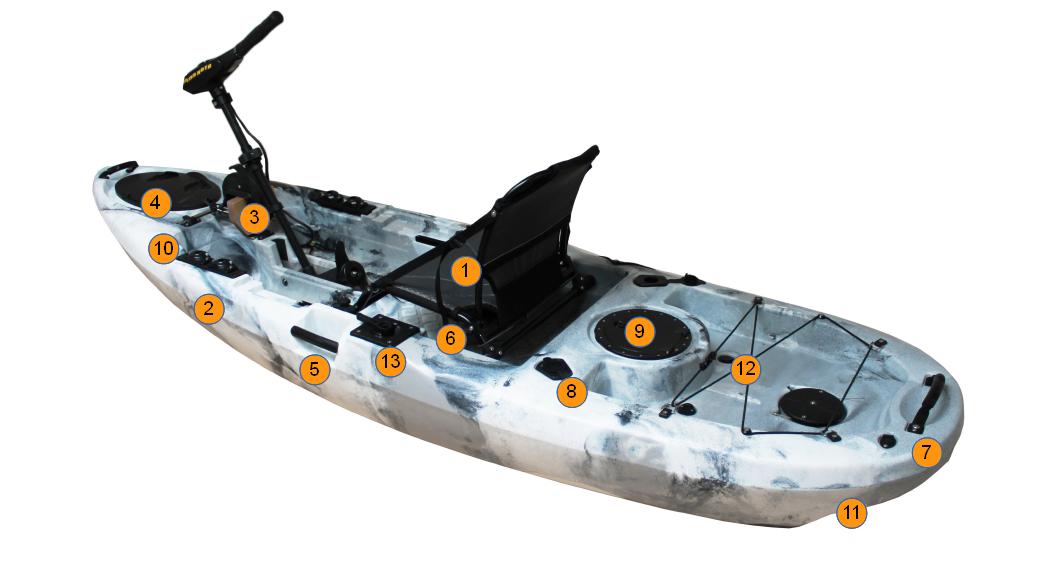 Allroundmarin AL-316E Fishing kayak