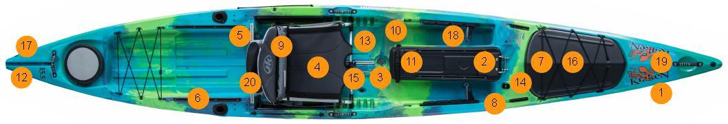 Jackson Kraken 15.5 Horgászkajak felszereltség