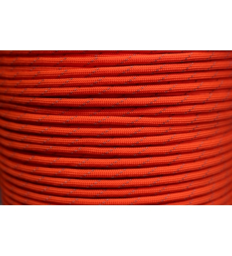 550 Paracord with Reflective Tracer Orange