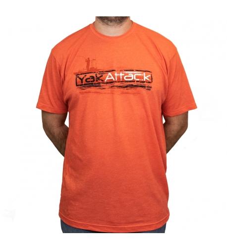 YakAttack Rigging The Dream Tee, Orange.