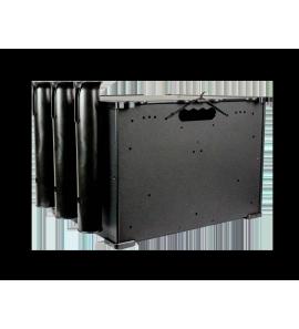 BlackPak szerelékes láda 3db bottartócsővel