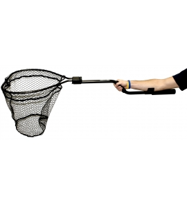 "YakAttack Leverage Landing Net, 20"" X 21"" hoop, 48"" long, with extension and foam for storing in rod holder"